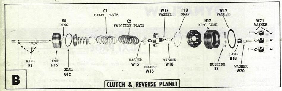 dynaflow transmission parts